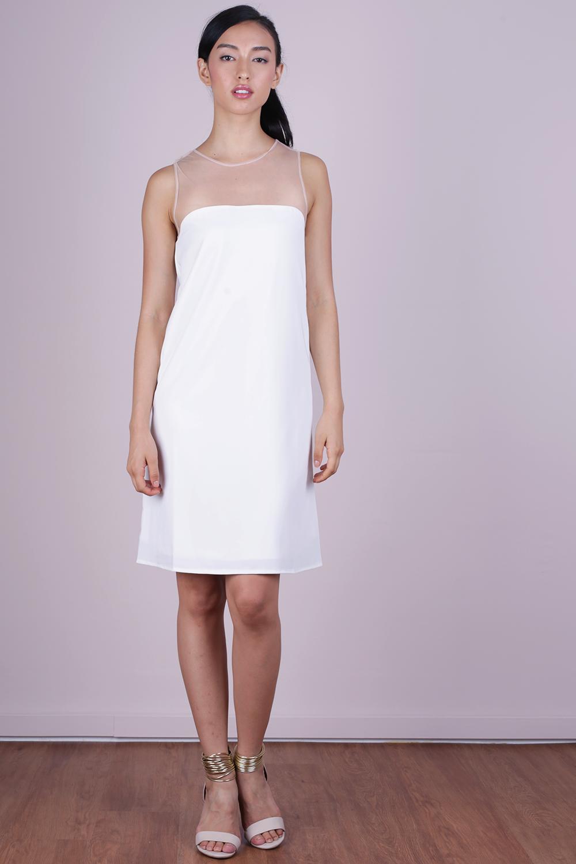 Cel Mesh Dress (White)