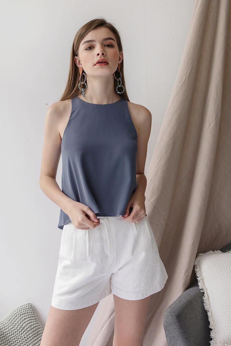 Oda Button Shorts (White)