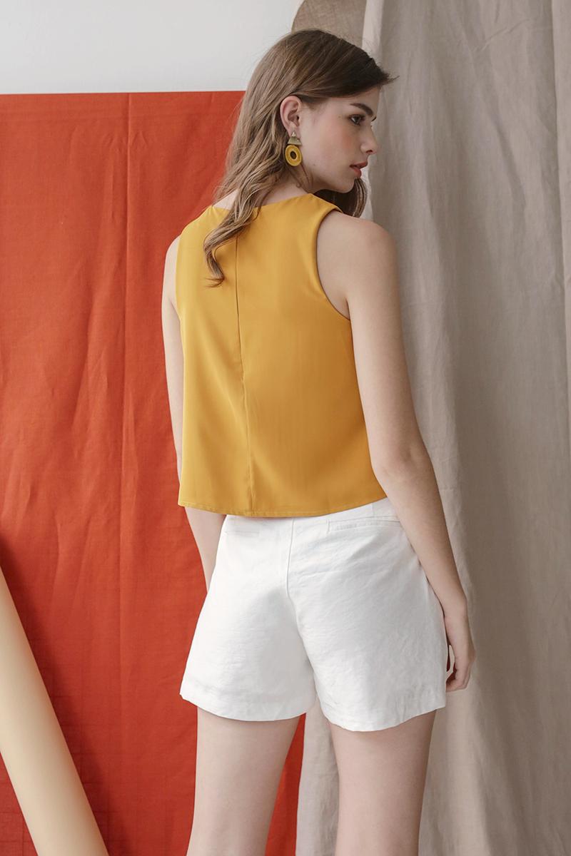 Judy Flare Top (Marigold Yellow)