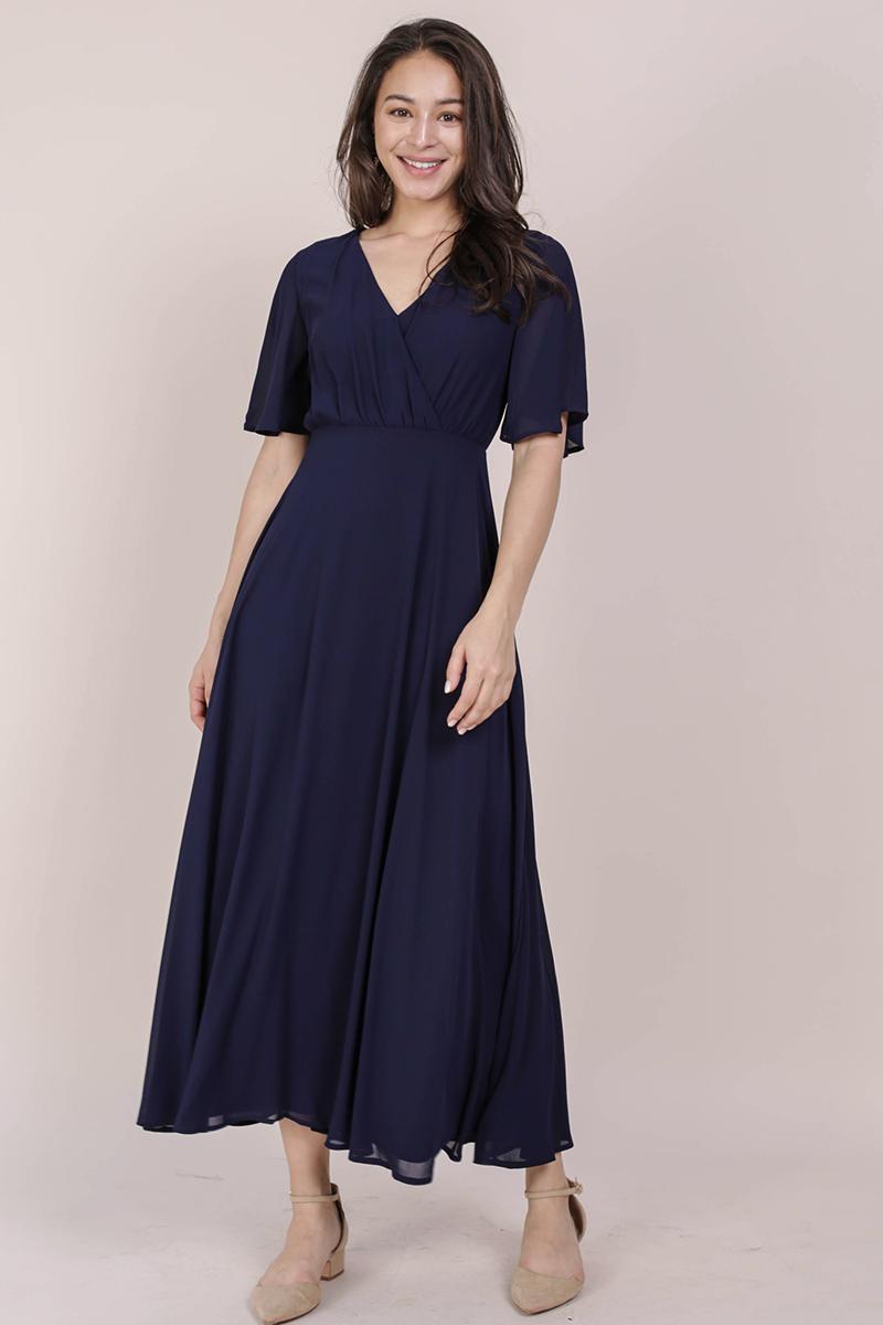 Shana Sleeved Maxi (Navy)