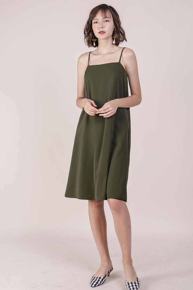 Forelle Midi Dress (Olive)
