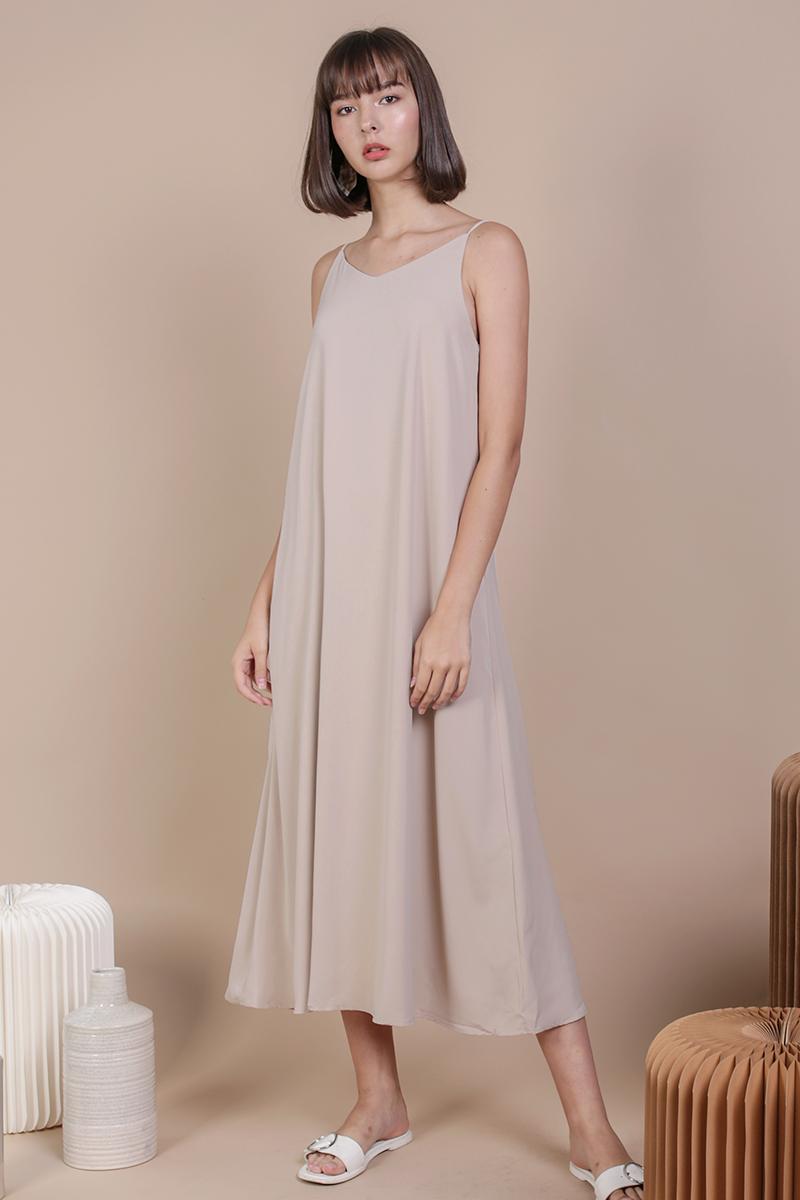 Faye Maxi Dress (Nude)