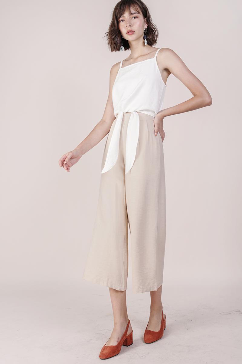 Dione Linen Culottes (Nude)