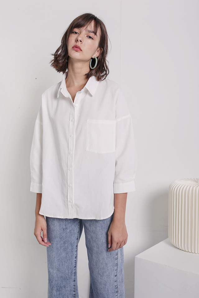 Sanford Boyfriend Shirt (White)