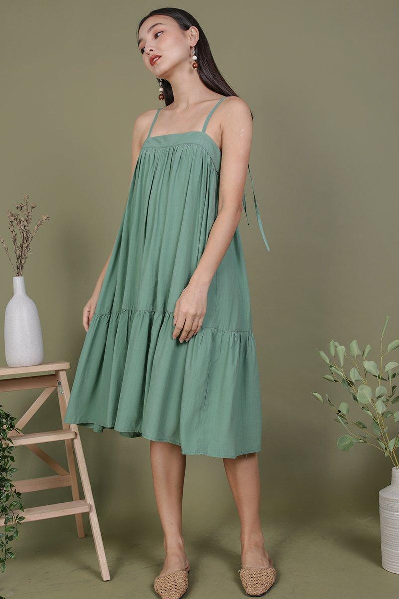 Malone Flowy Dress (Fern)