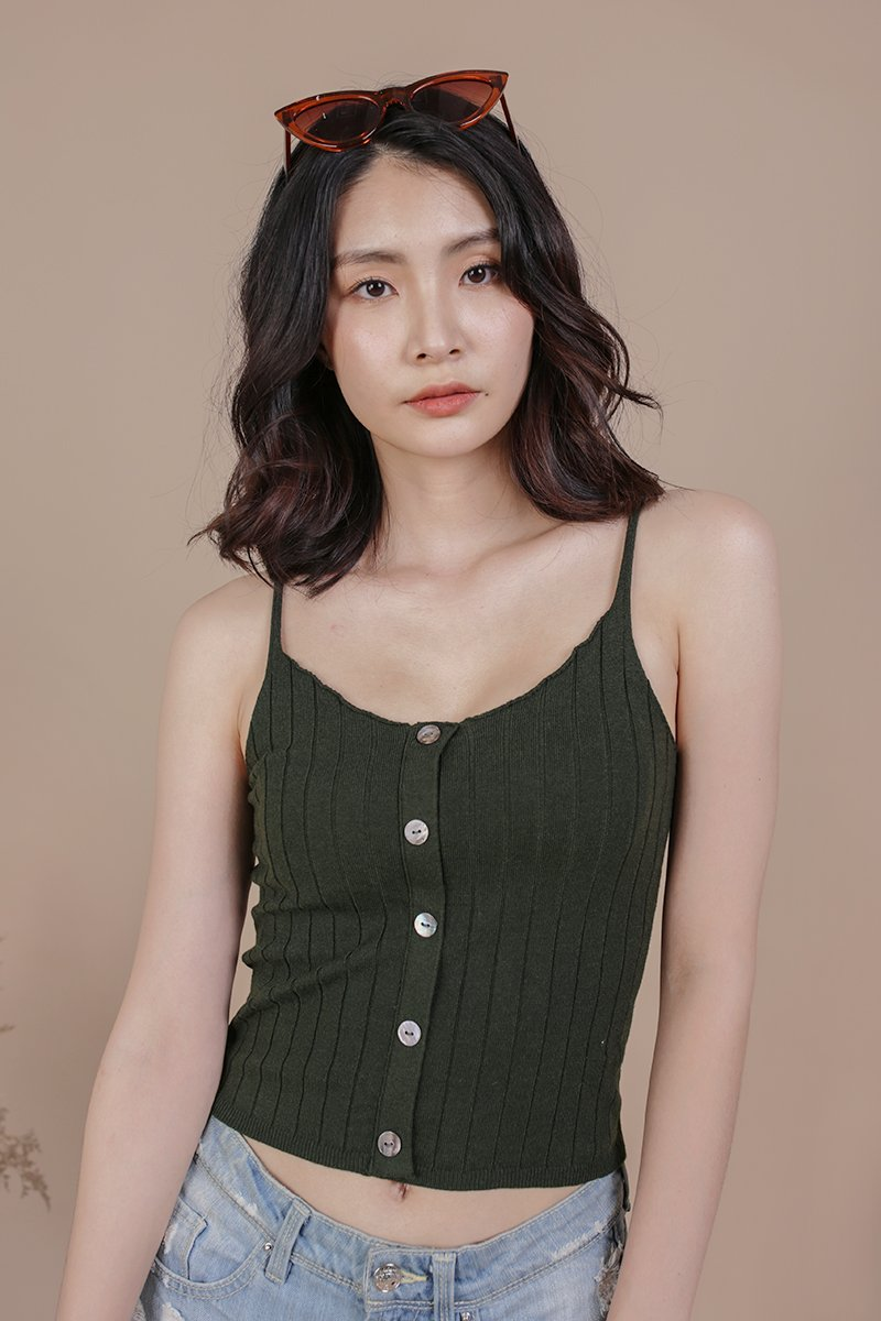 Alysia Knit Top (Forest Green)