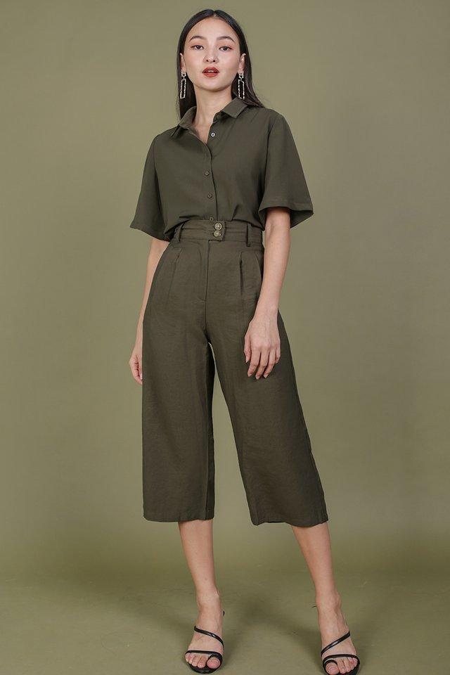 Oda Button Pants (Olive)