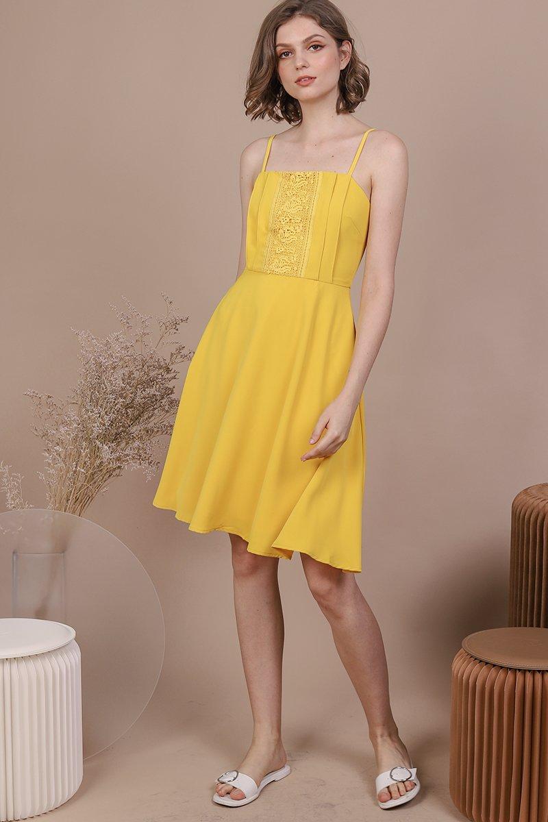 Kaye Crochet Dress (Sunshine)