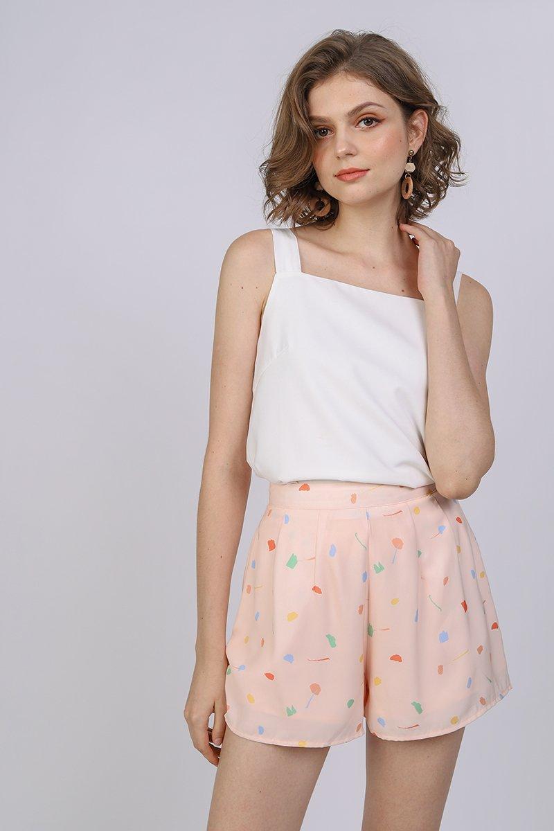 Petal Flare Shorts (Pink Celebration)