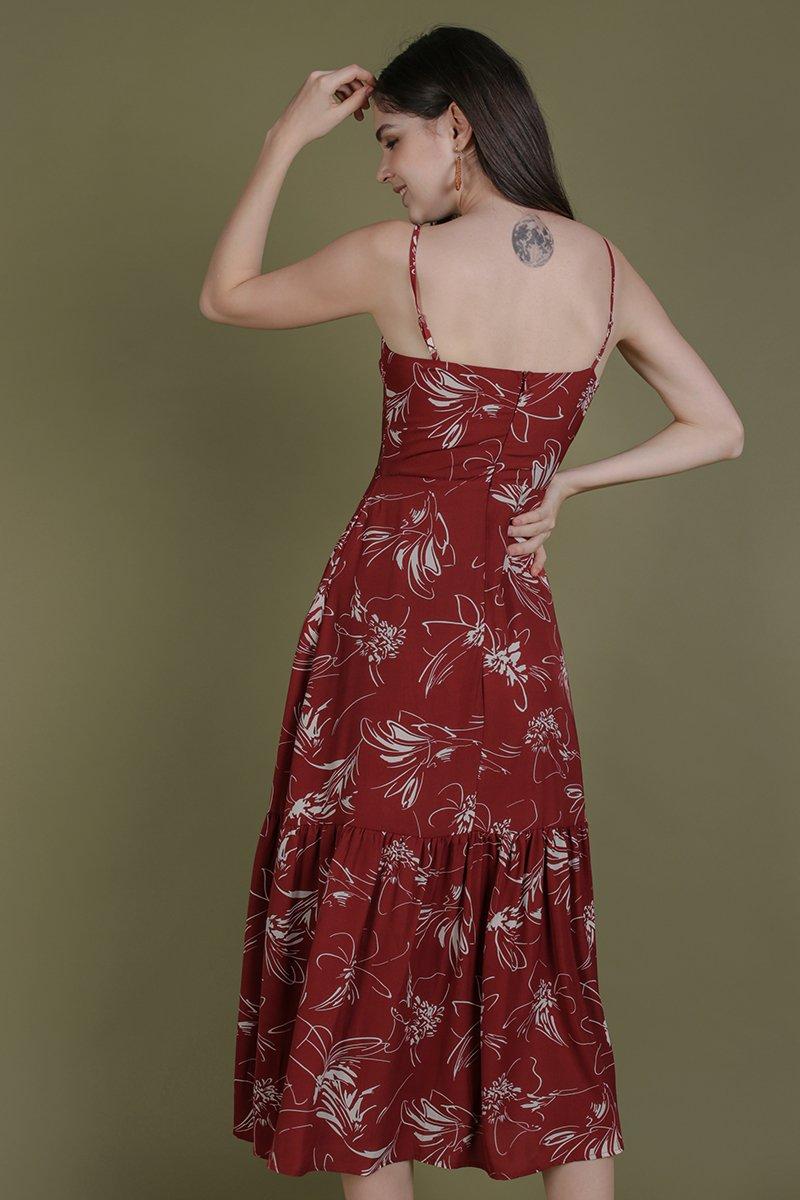 Harmony Maxi Dress (Red Abstract)
