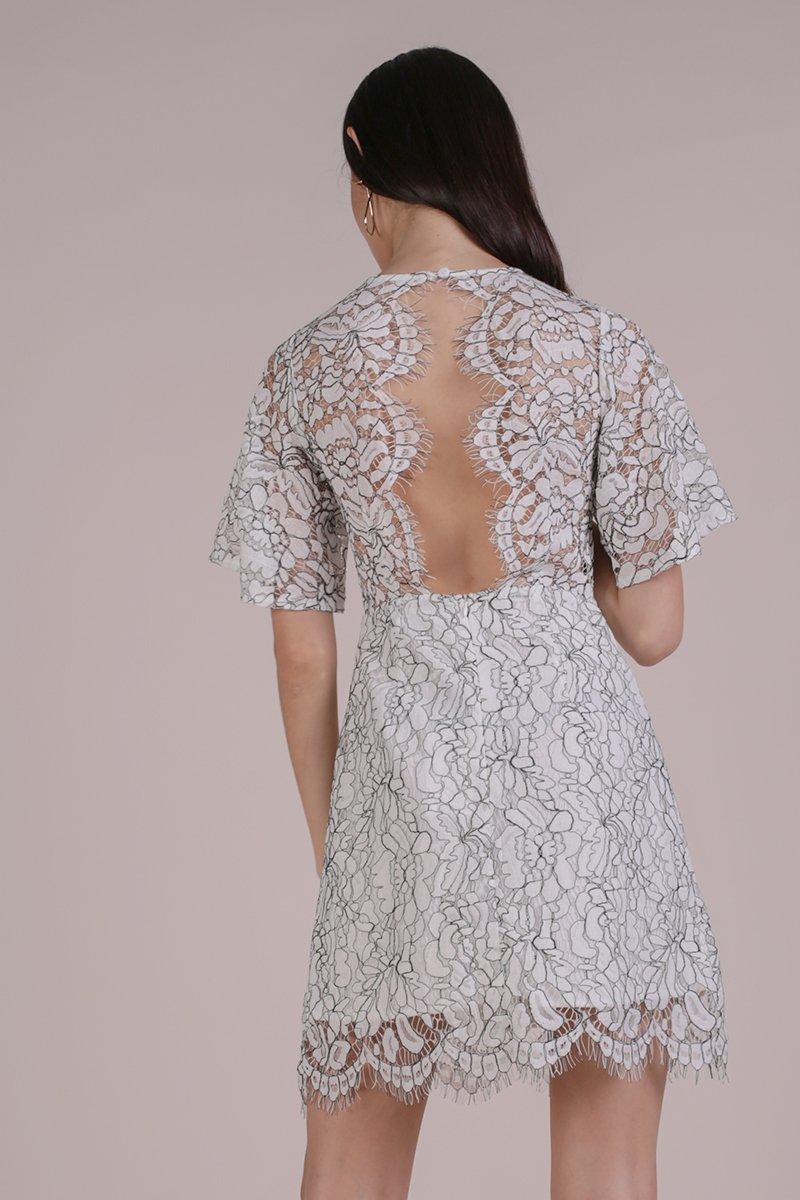 Vienna Lace Dress (White)