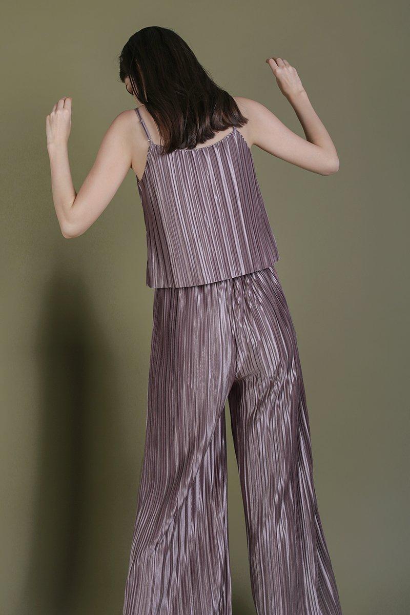 Jill Pleated Pants (Mauve Lilac)