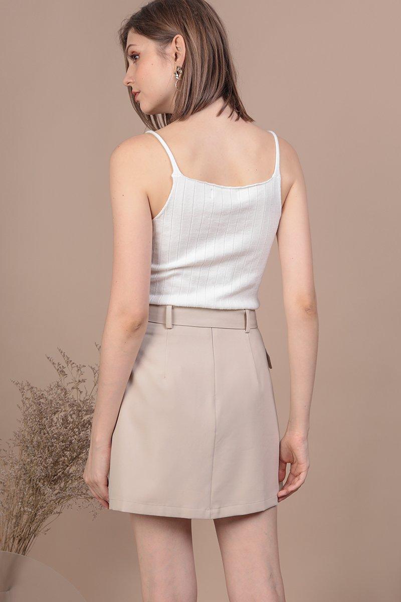 Mitchel Buckle Skirt (Beige)