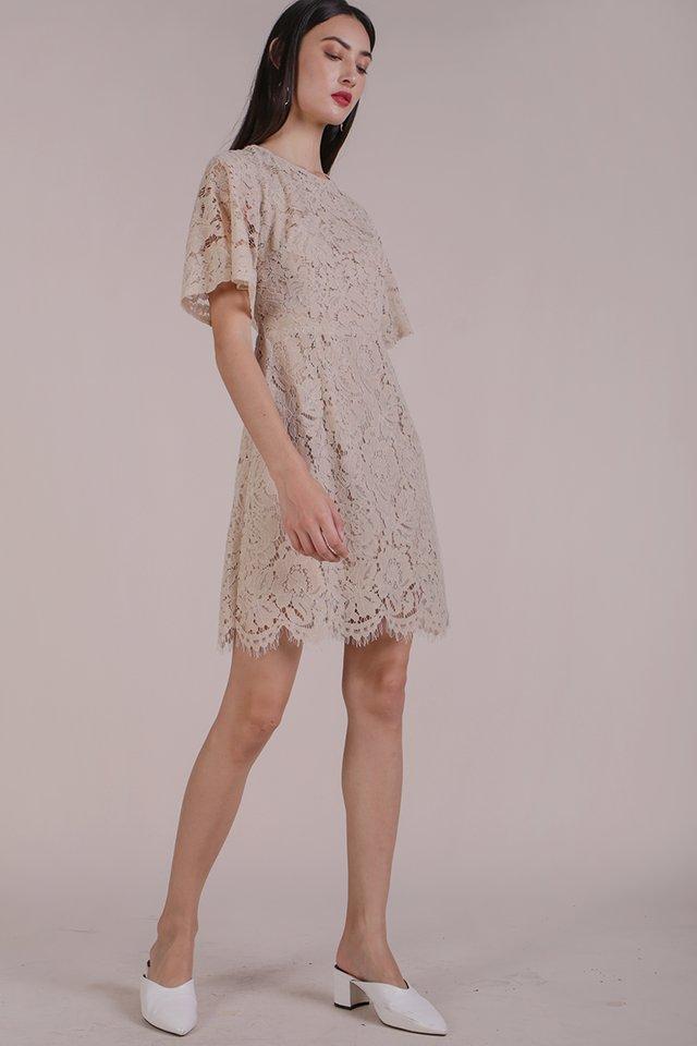 Vienna Lace Dress (Nude)