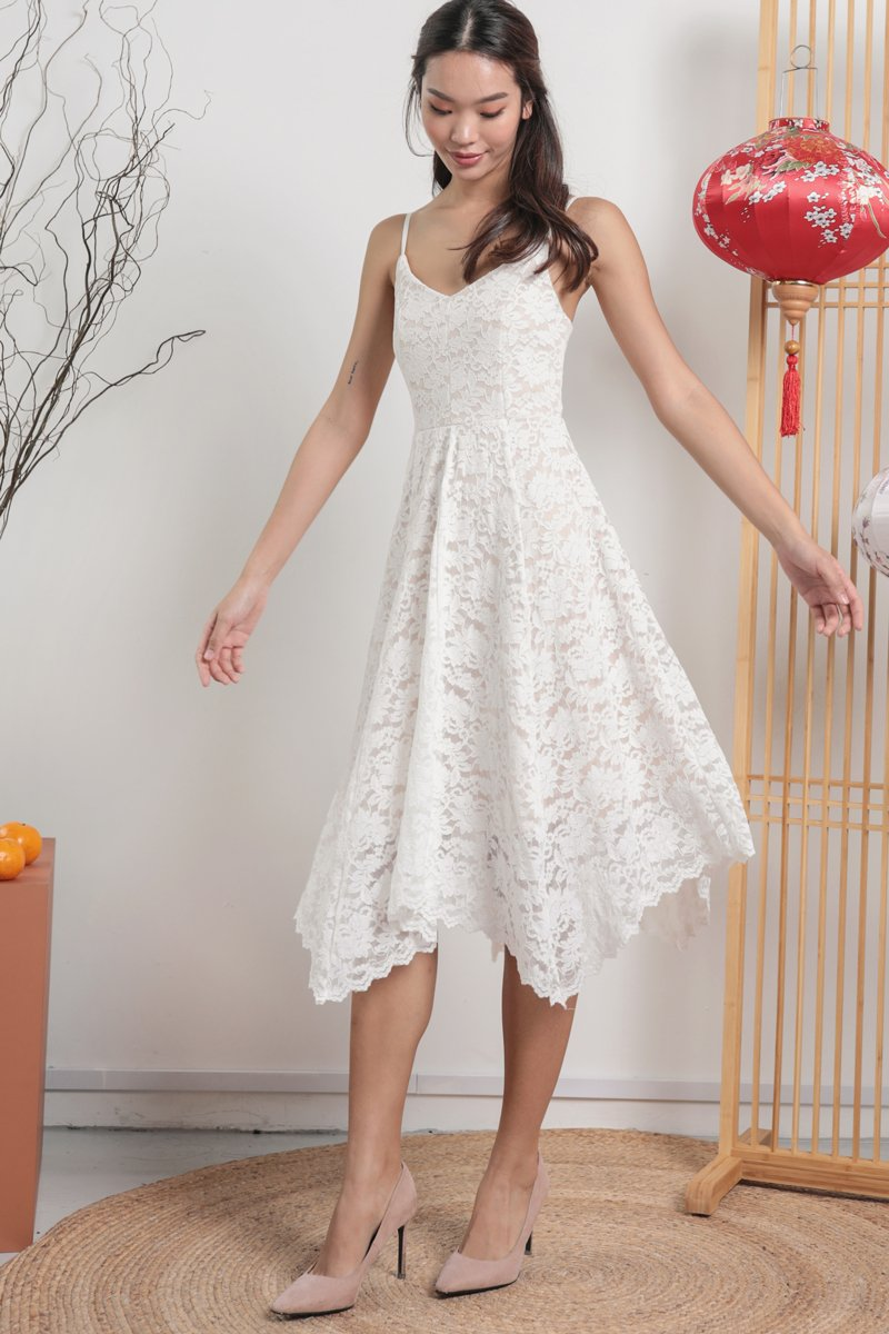 Halley Lace Dress (White)
