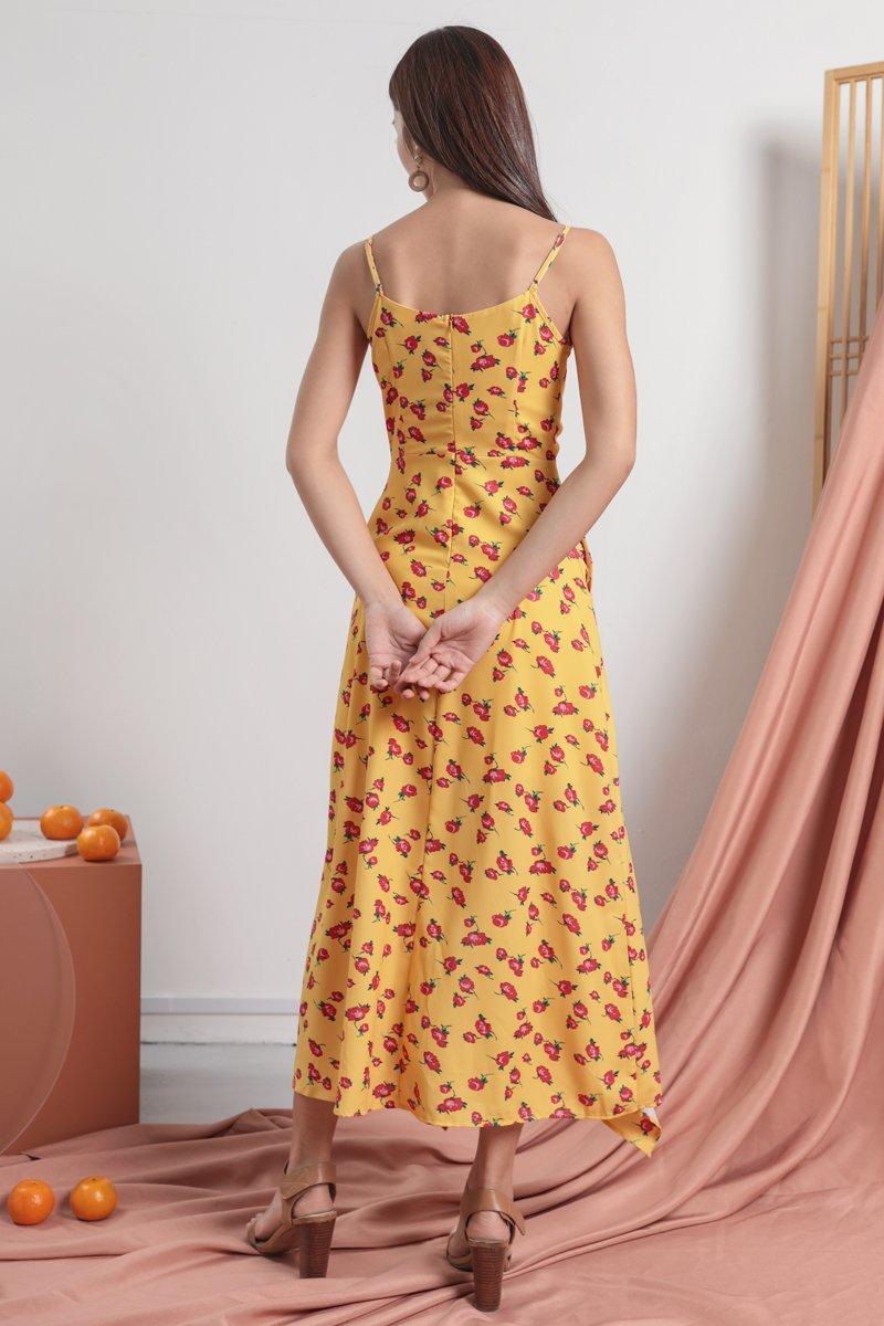 Fionn Ruffles Drawstring Dress (Roses)