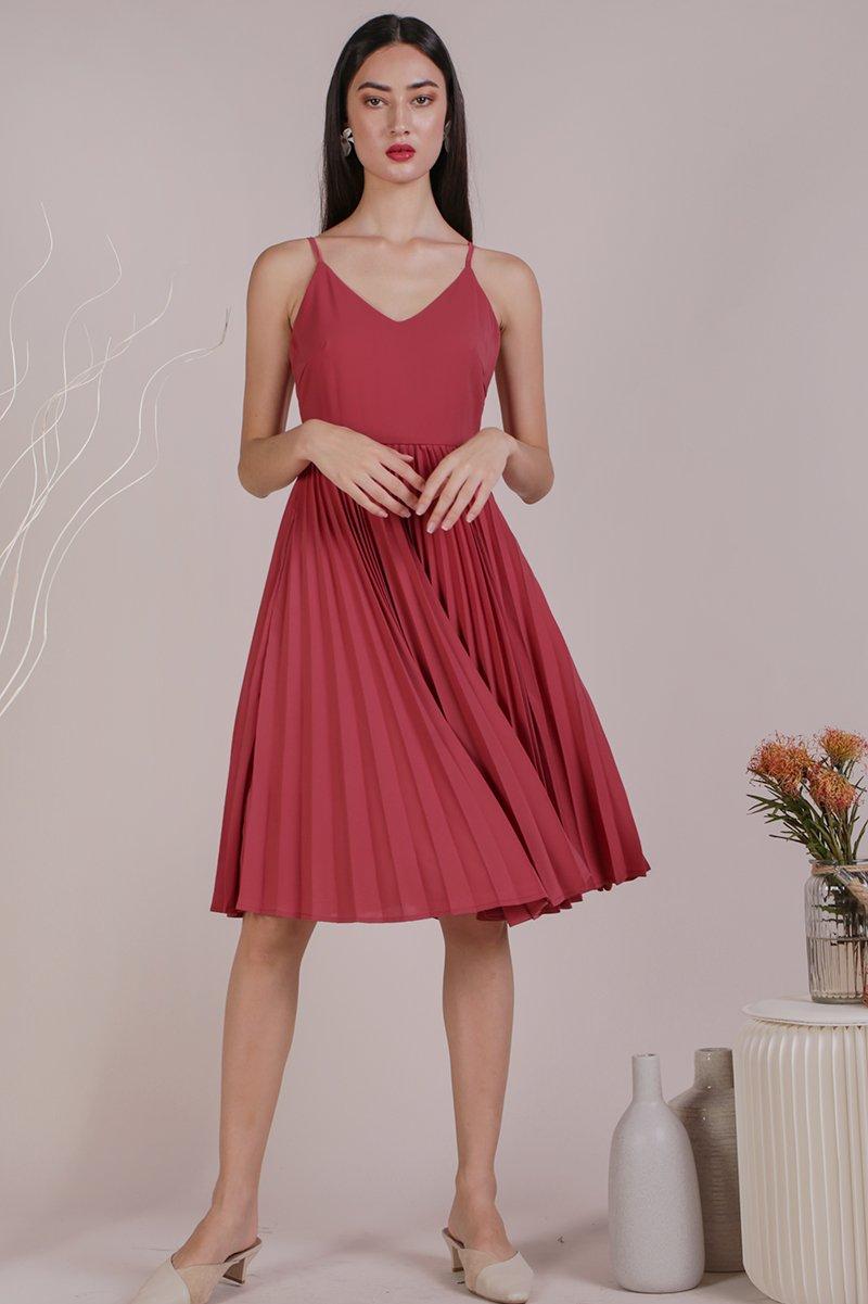 Kiki Pleated Dress (Rose)