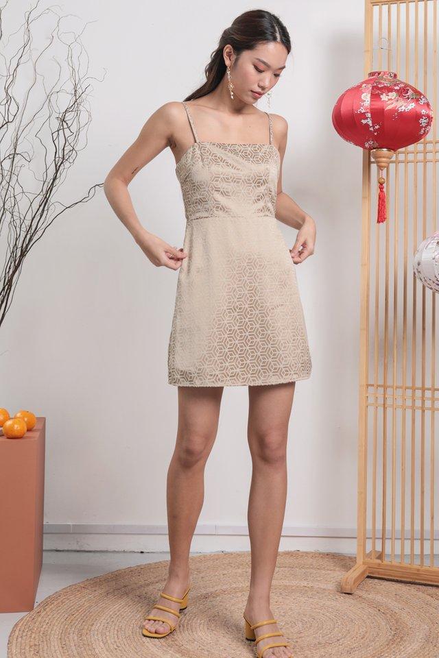 Lindy Spag Dress (Oriental Gold)