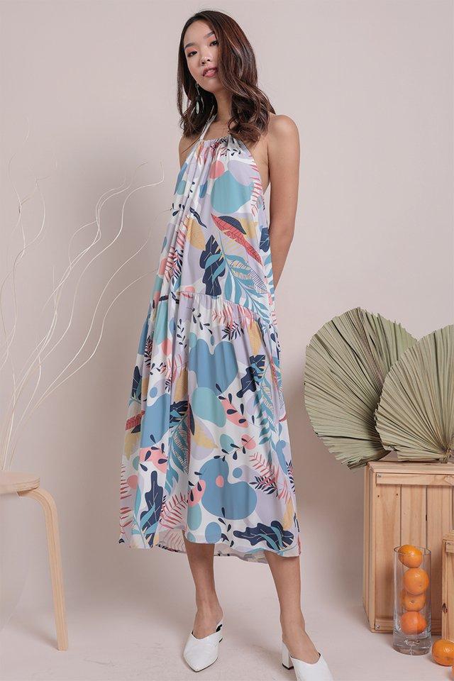 Online Exclusive- Loki Halter Dress (Tropical)