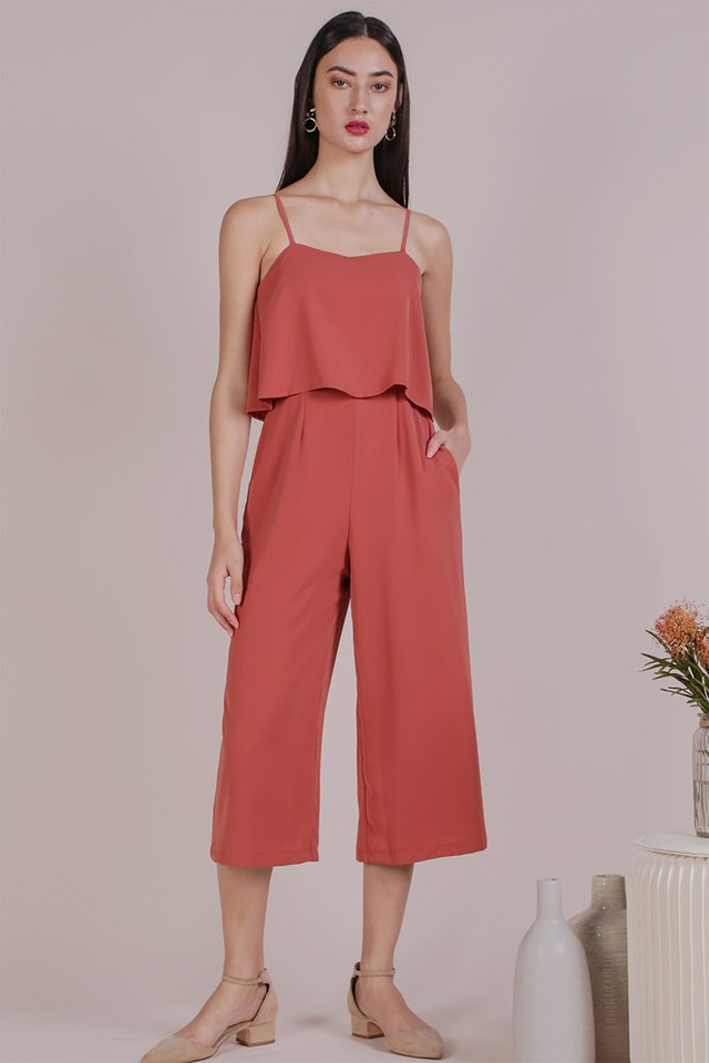 Anara Tiered Jumpsuit (Rose)