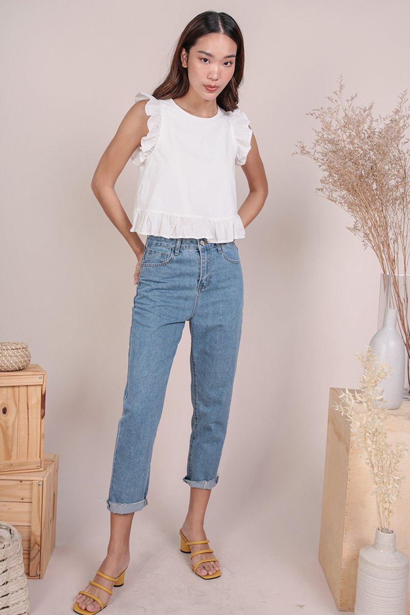 Sadia Ruffles Top (White)