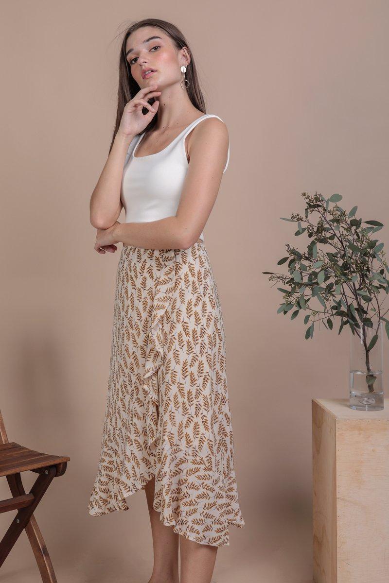 Destiny Ruffles Skirt (Leaves)