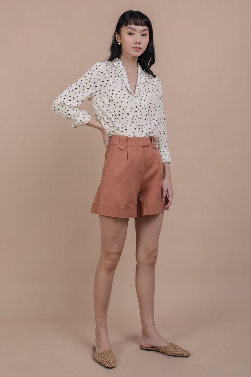 Luca Cuffed Shorts (Terracotta)