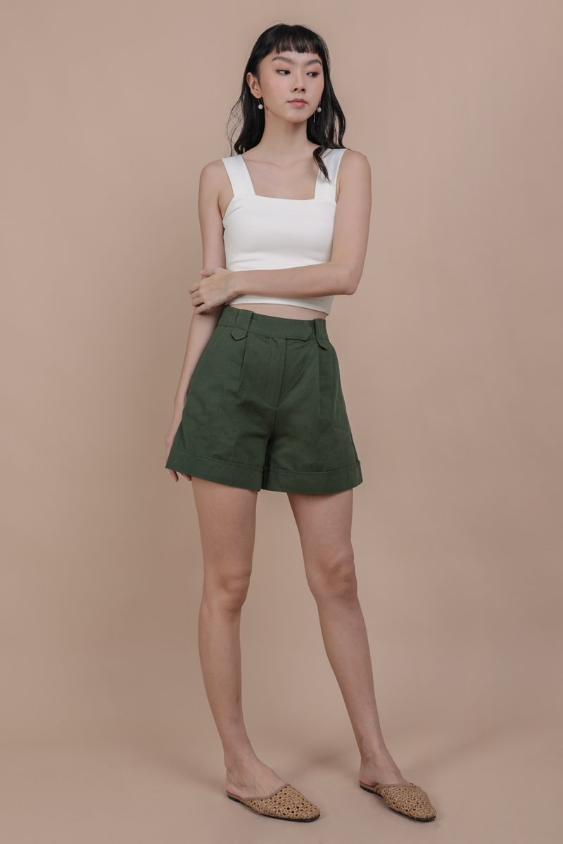 Luca Cuffed Shorts (Forest)