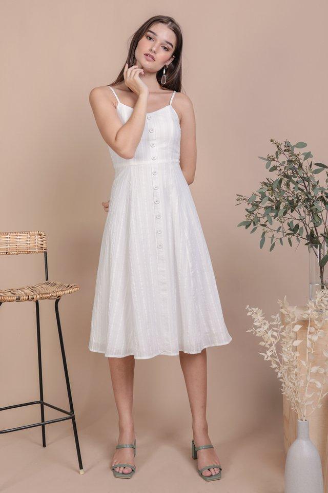 Libby Midi Dress (White Embroidery)