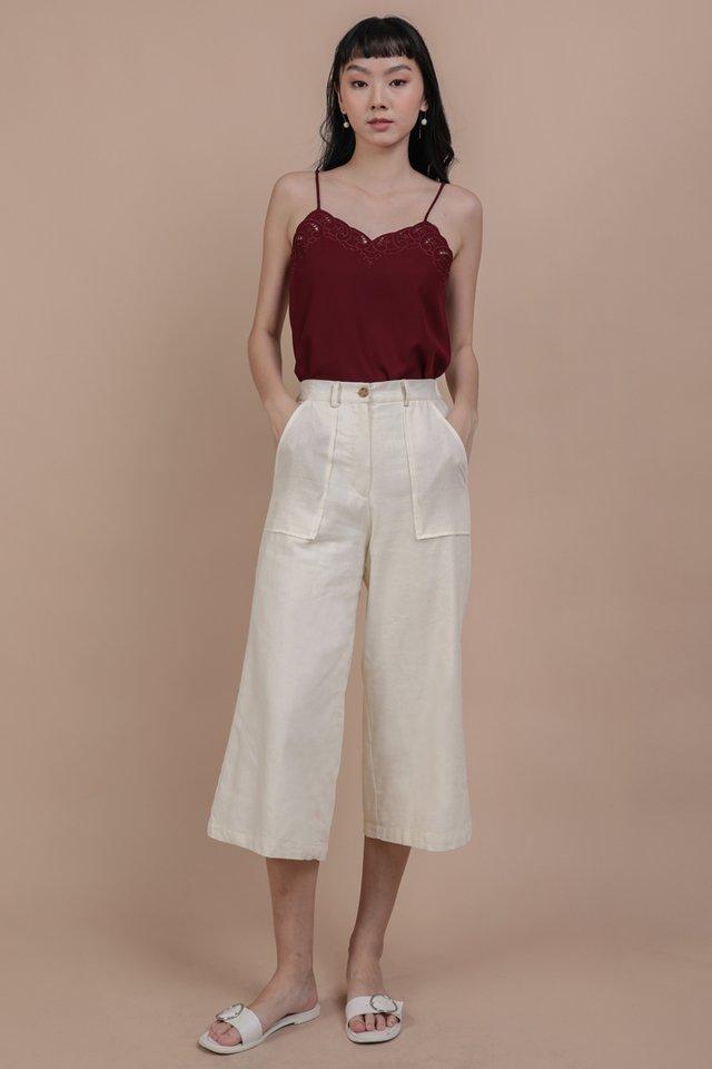 Frank Linen Culottes (Cream)