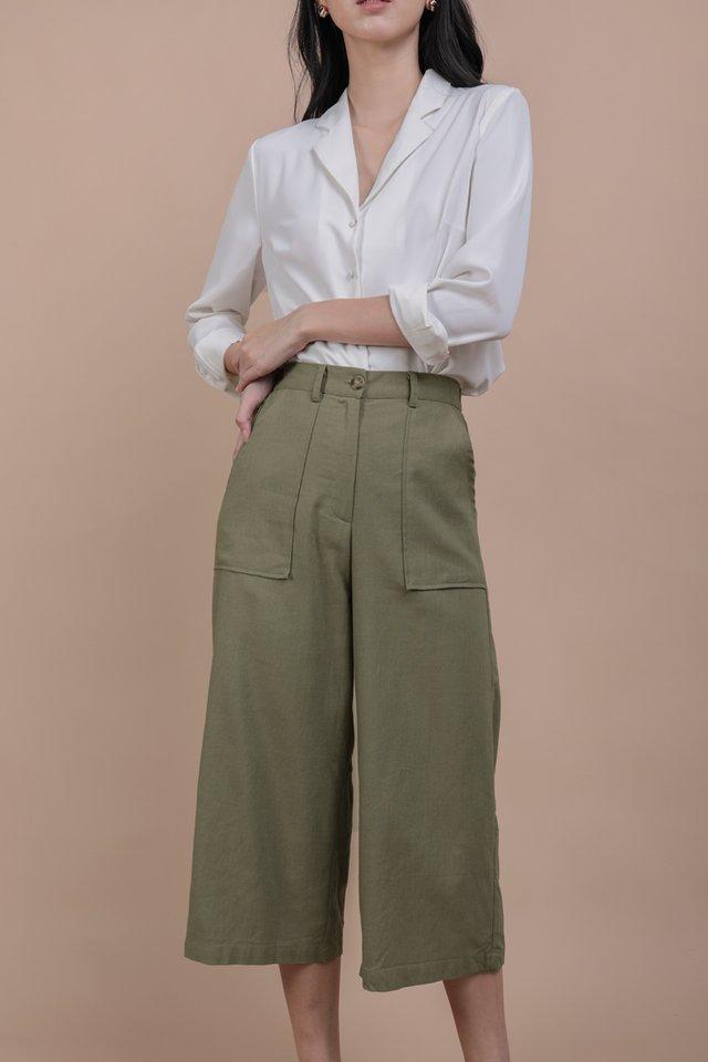 Frank Linen Culottes (Olive)