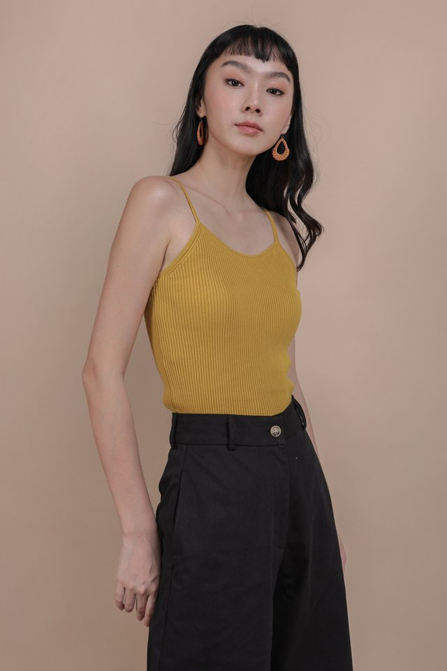 Atlas Knit Spag Top (Marigold)