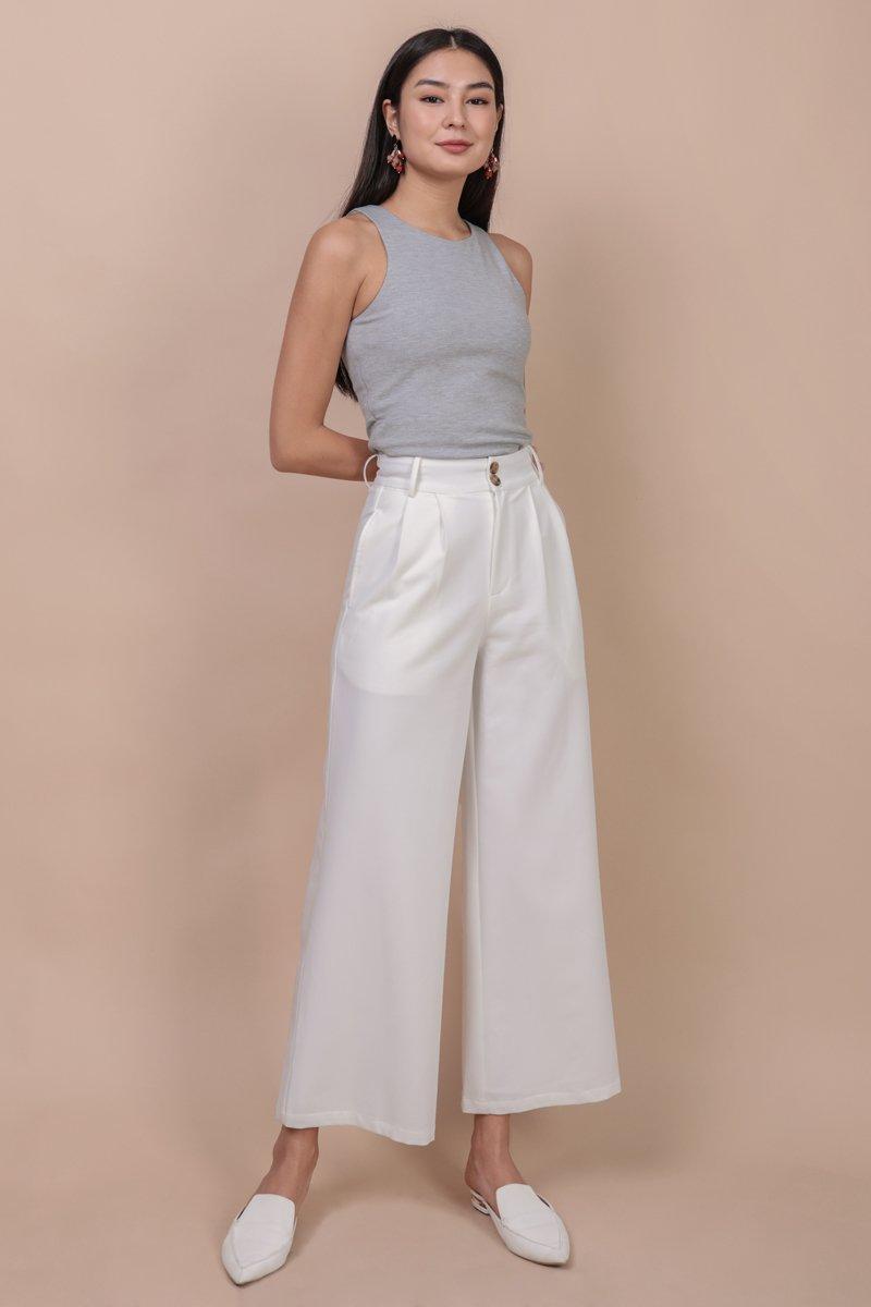 Casa Button Pants (White)