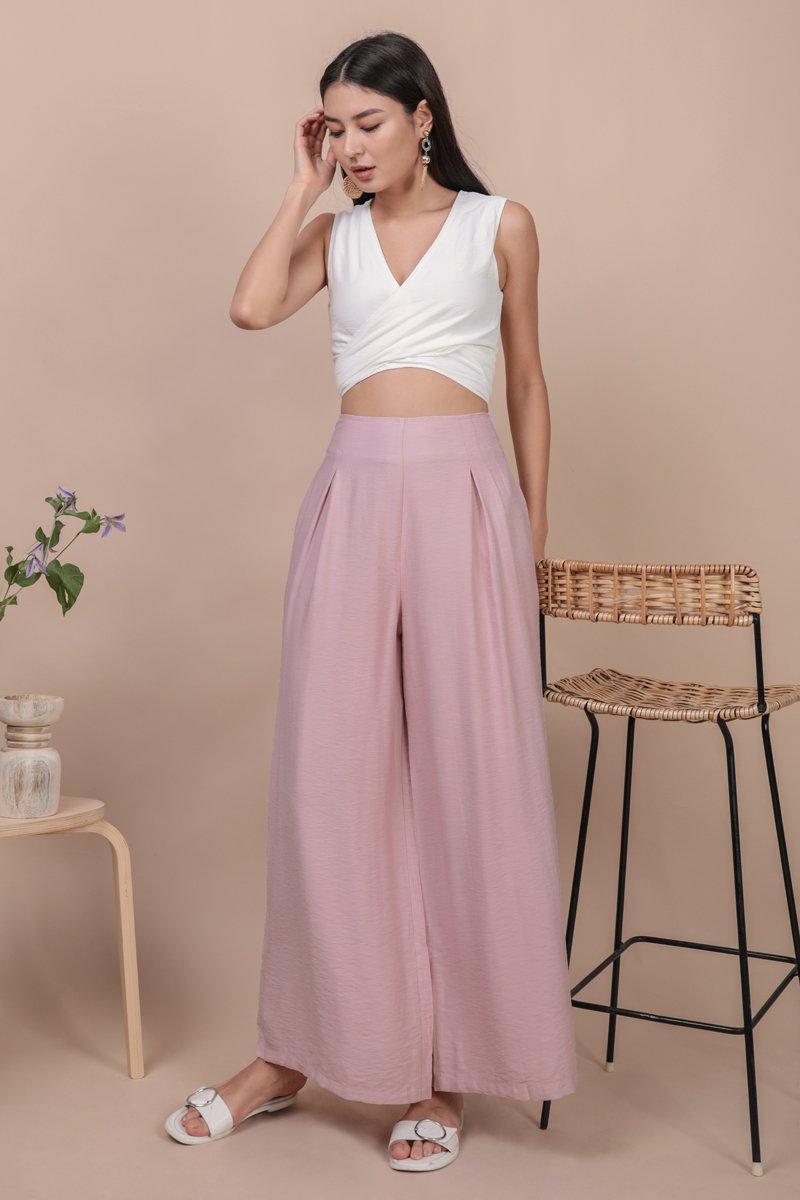 Alton Wide Leg Pants (Pink)
