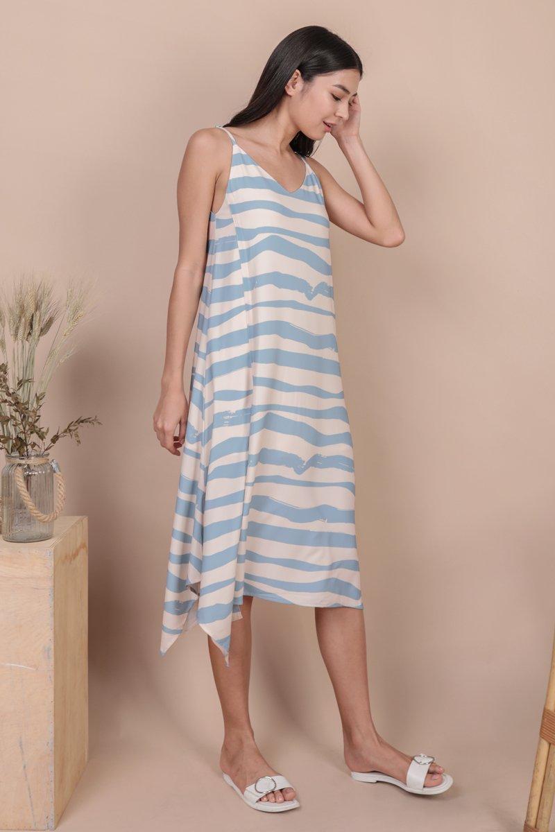 Tayla Slip Dress (Waves)