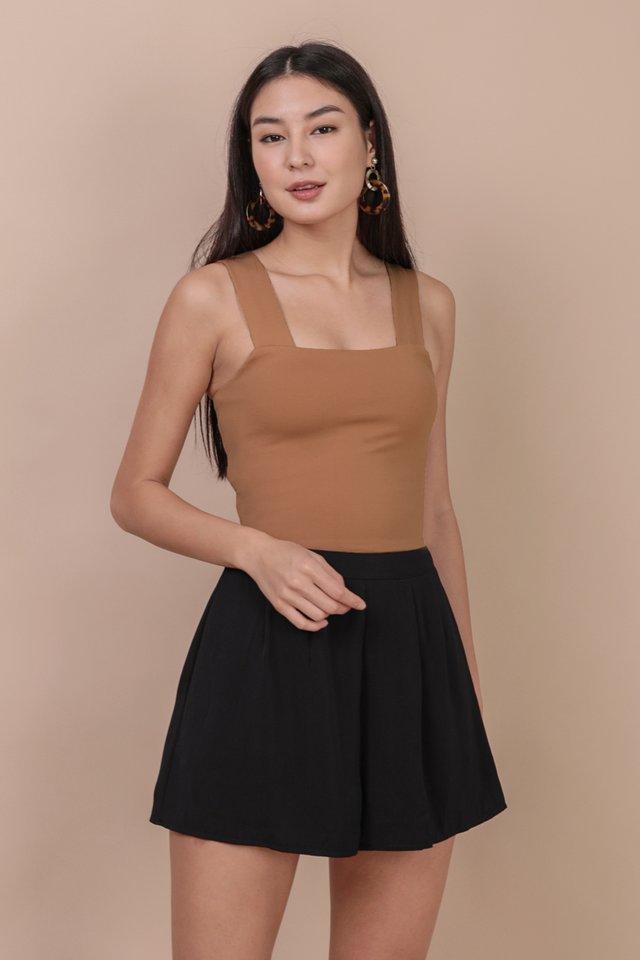 Petal Flare Shorts (Black)