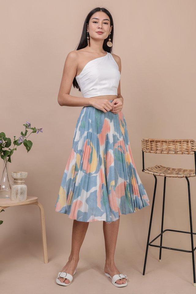 Courtney Pleated Midi Skirt (Blossom)