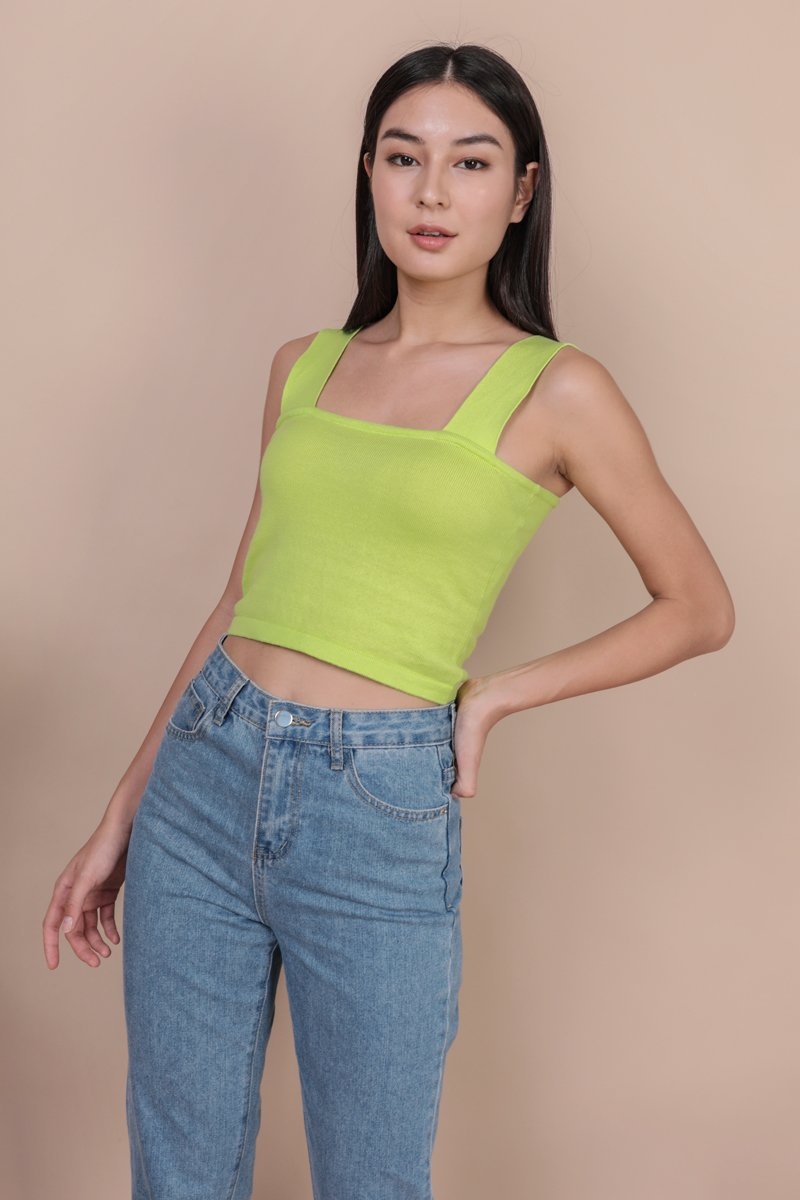 Harley Knit Top (Lime)