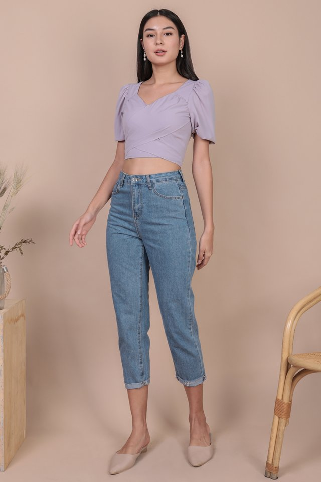 Carrie Puffy Wrap Top (Lilac)