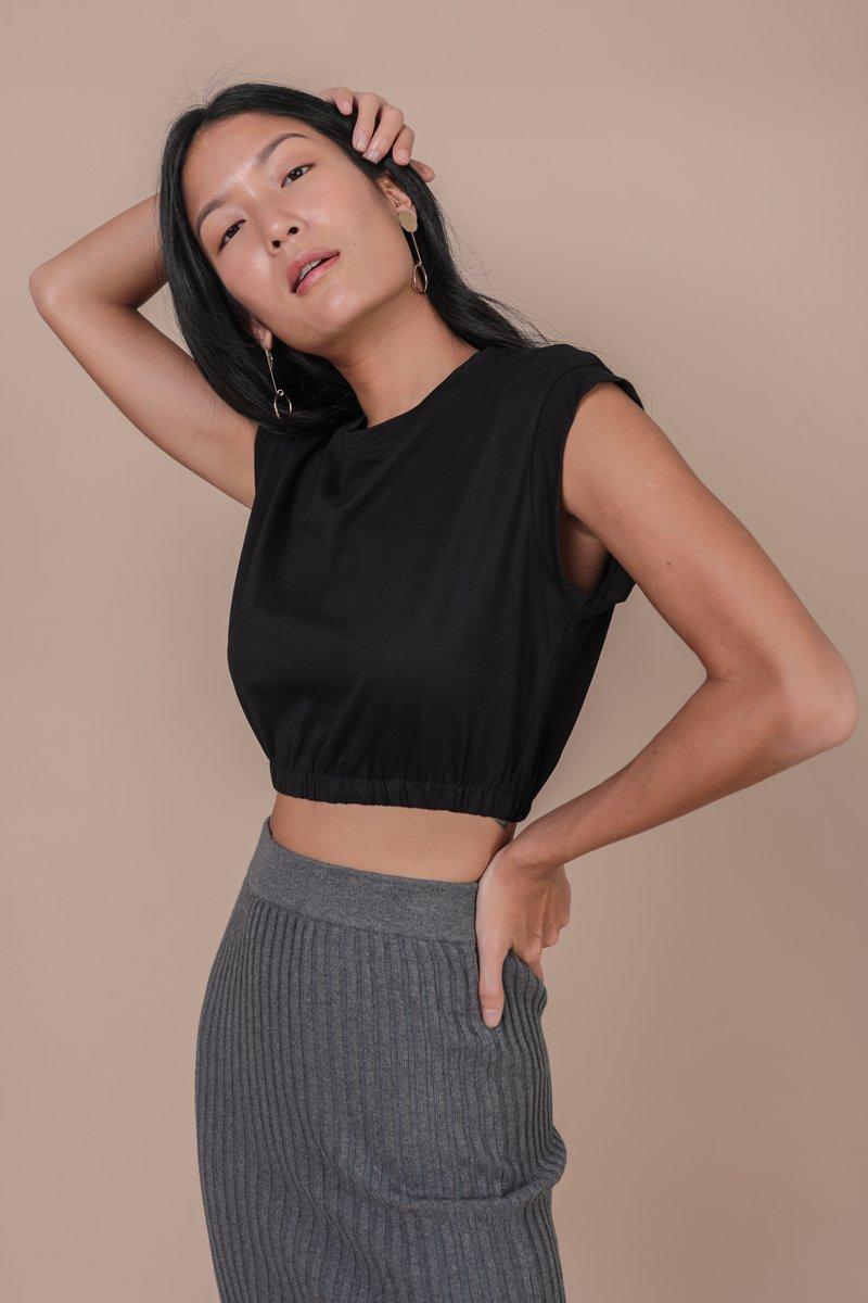 Leyla Cropped Top (Black)