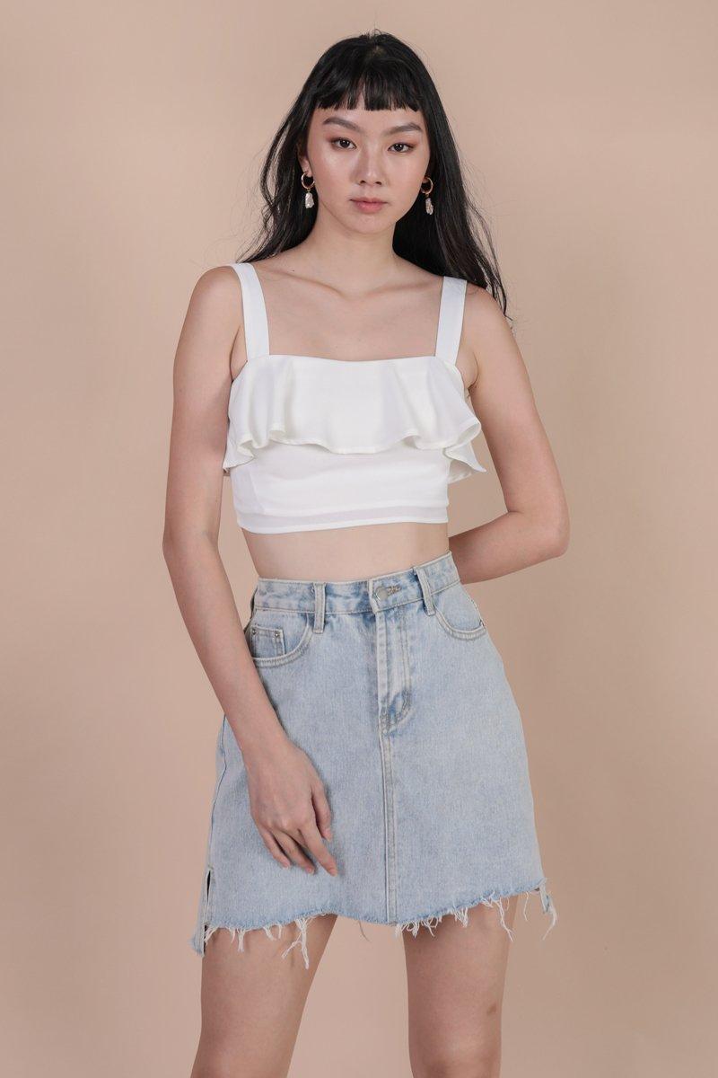 Reena Flutter Top (White)