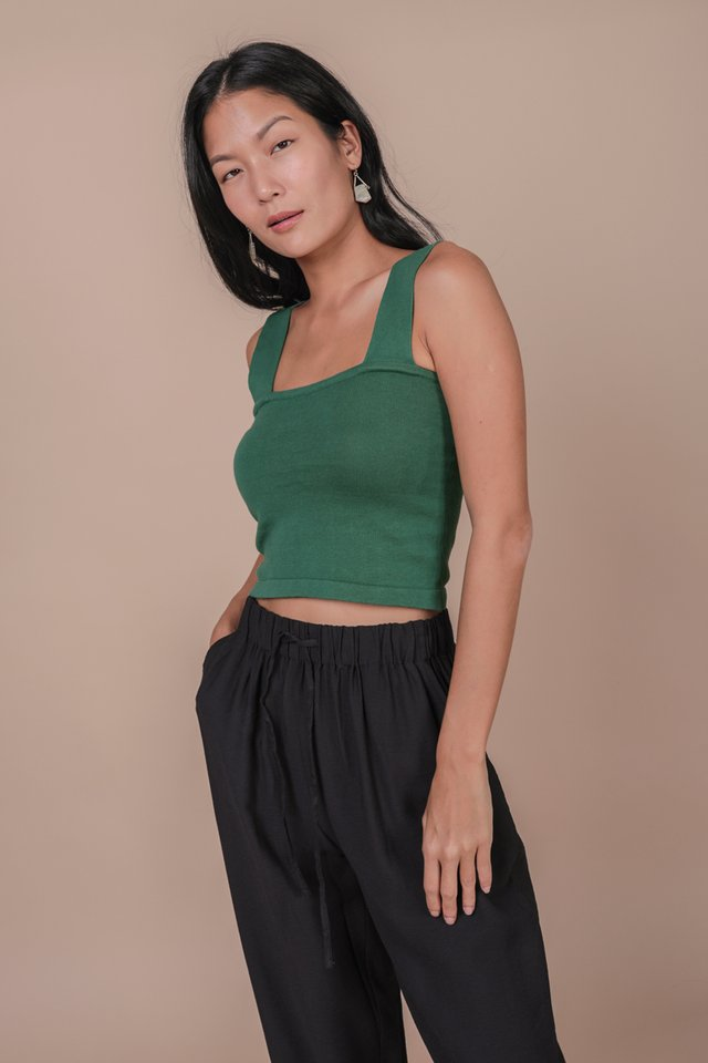 Harley Knit Top (Pine Green)