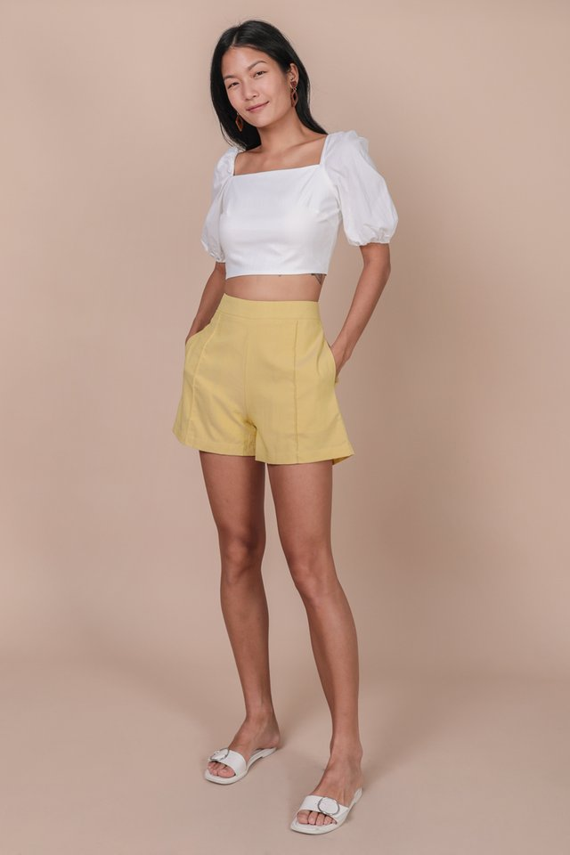 Majorelle Puffy Sleeve Top (White)