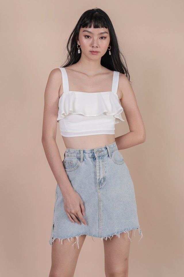Reena Flutter Top (White)