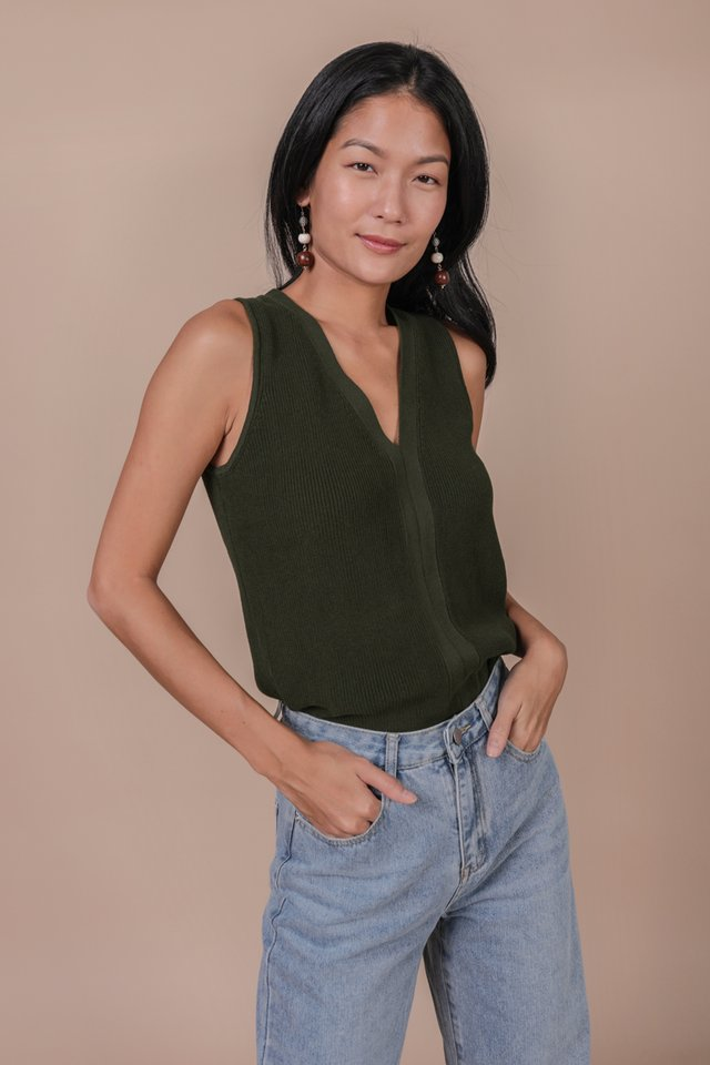 Sidra Knit Top (Olive)