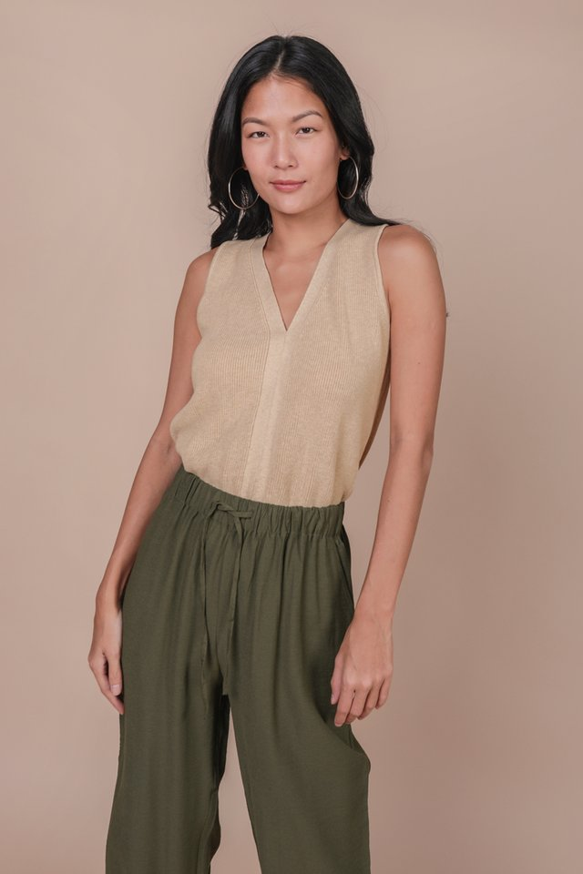 Sidra Knit Top (Wheat)