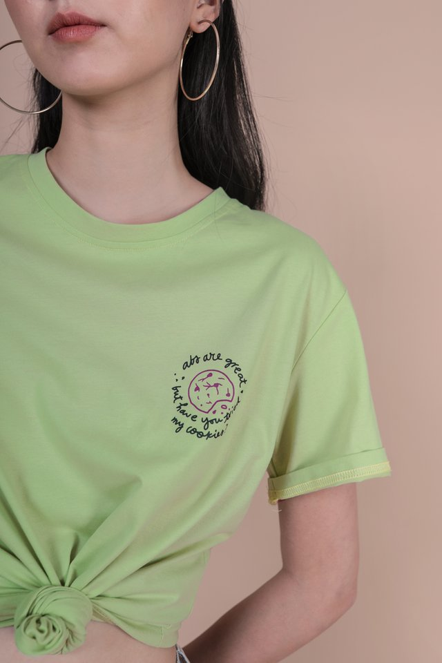 Better Than Abs Cookie Recipe Tee (Green)