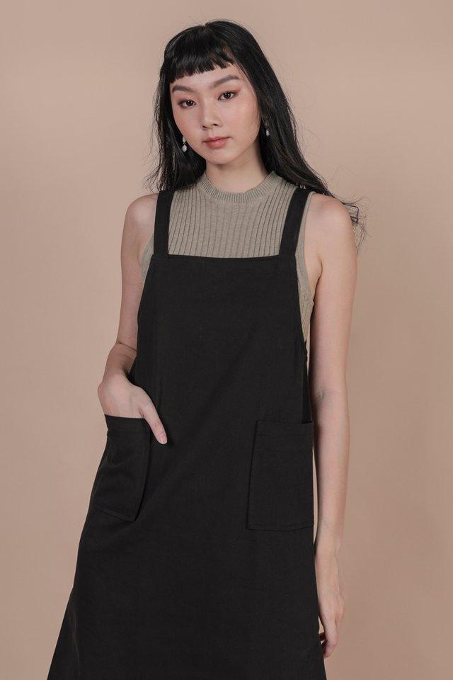 Todd Overalls Dress (Black)