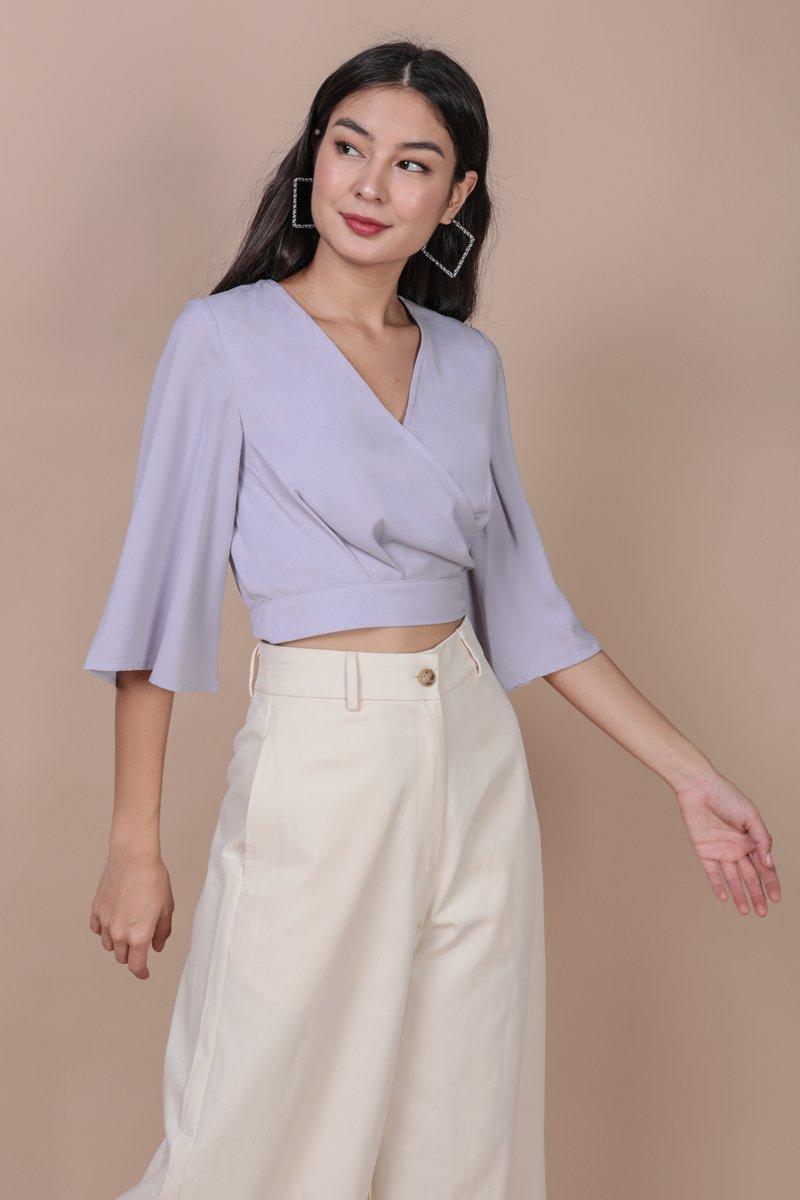 Jordyn Flare Sleeve Top (Lilac)