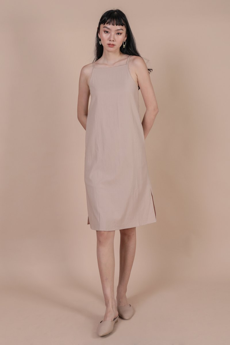 Stanley Midi Dress (Nude)